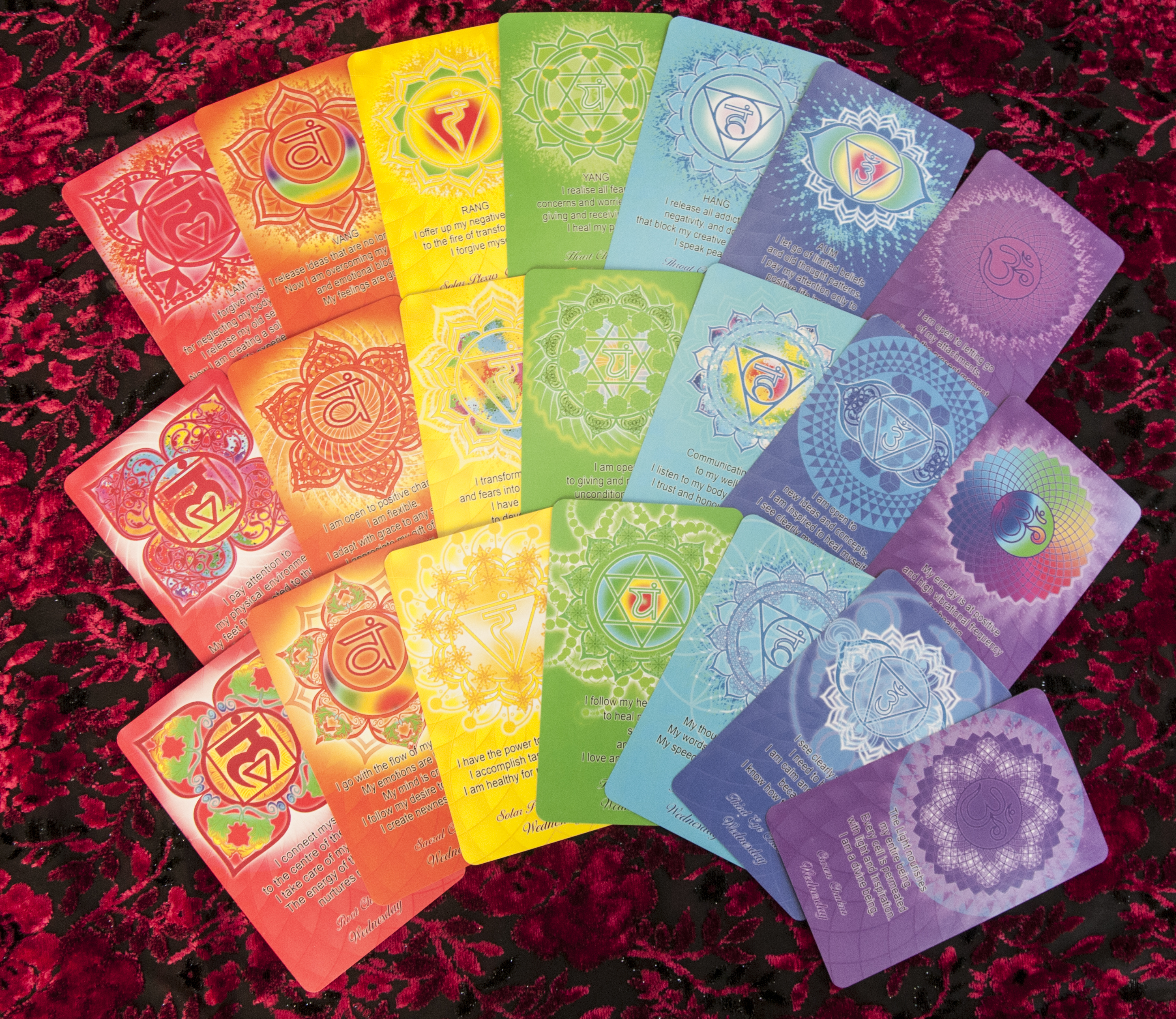 Chakra affirmation cards
