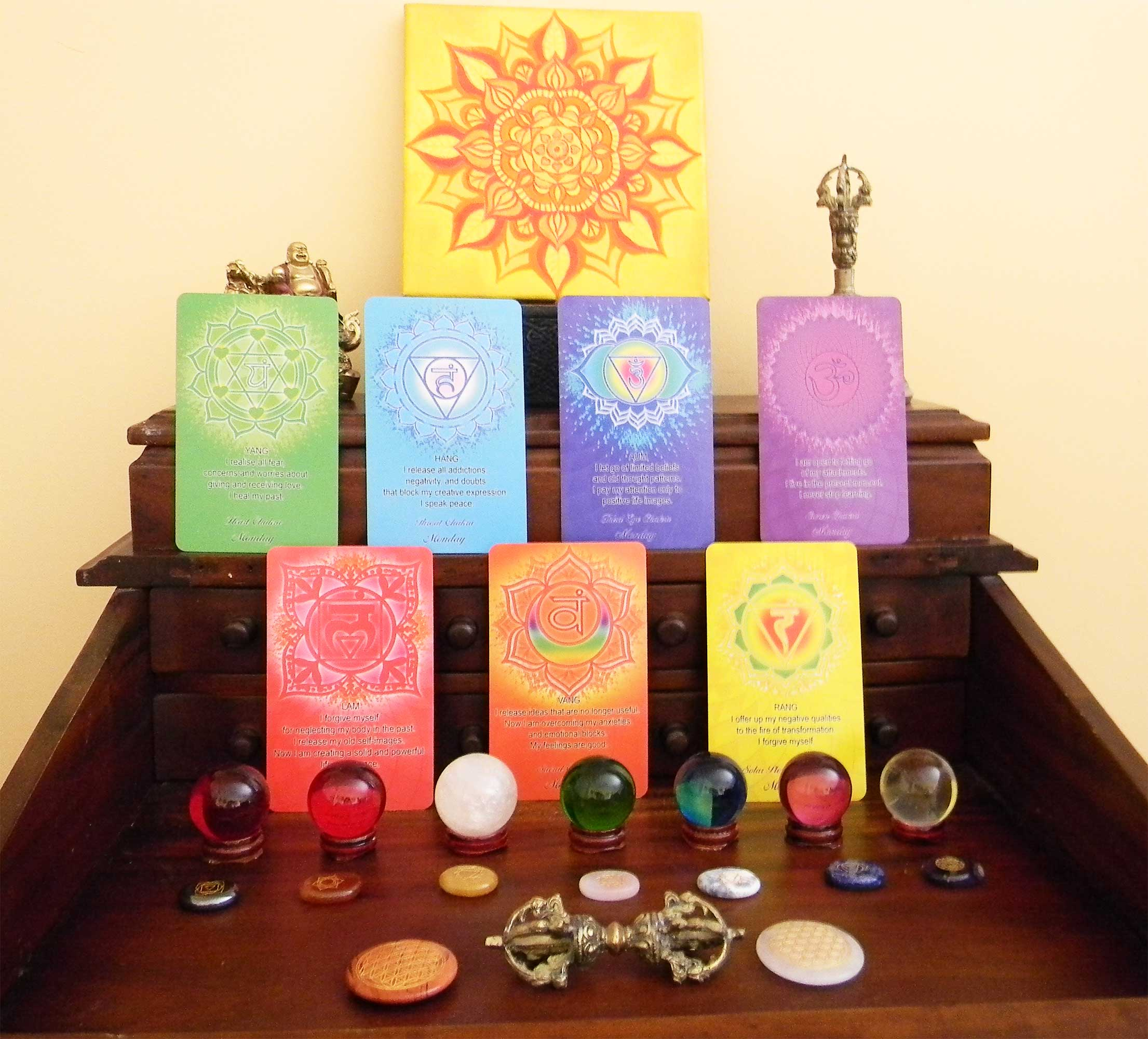 Chakra affirmation cards