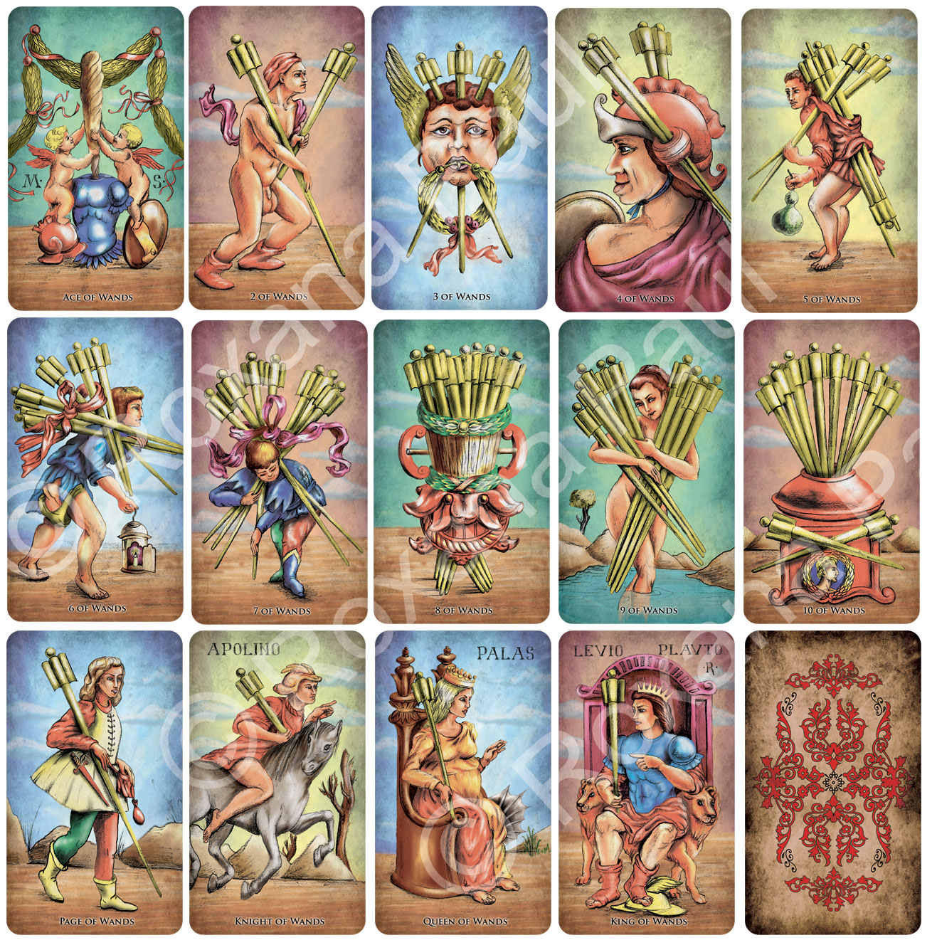 Venetian Anonymous Tarot Sola Busca Tarot